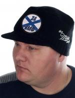 Дизайнерская мужская кепка Miller Way. Большая нашивка со словами «За ВМФ» на фоне Андреевского флага. Шапка закрывает уши, затылок и лоб. Теплый и стильный аксессуар без переплаты за бренд