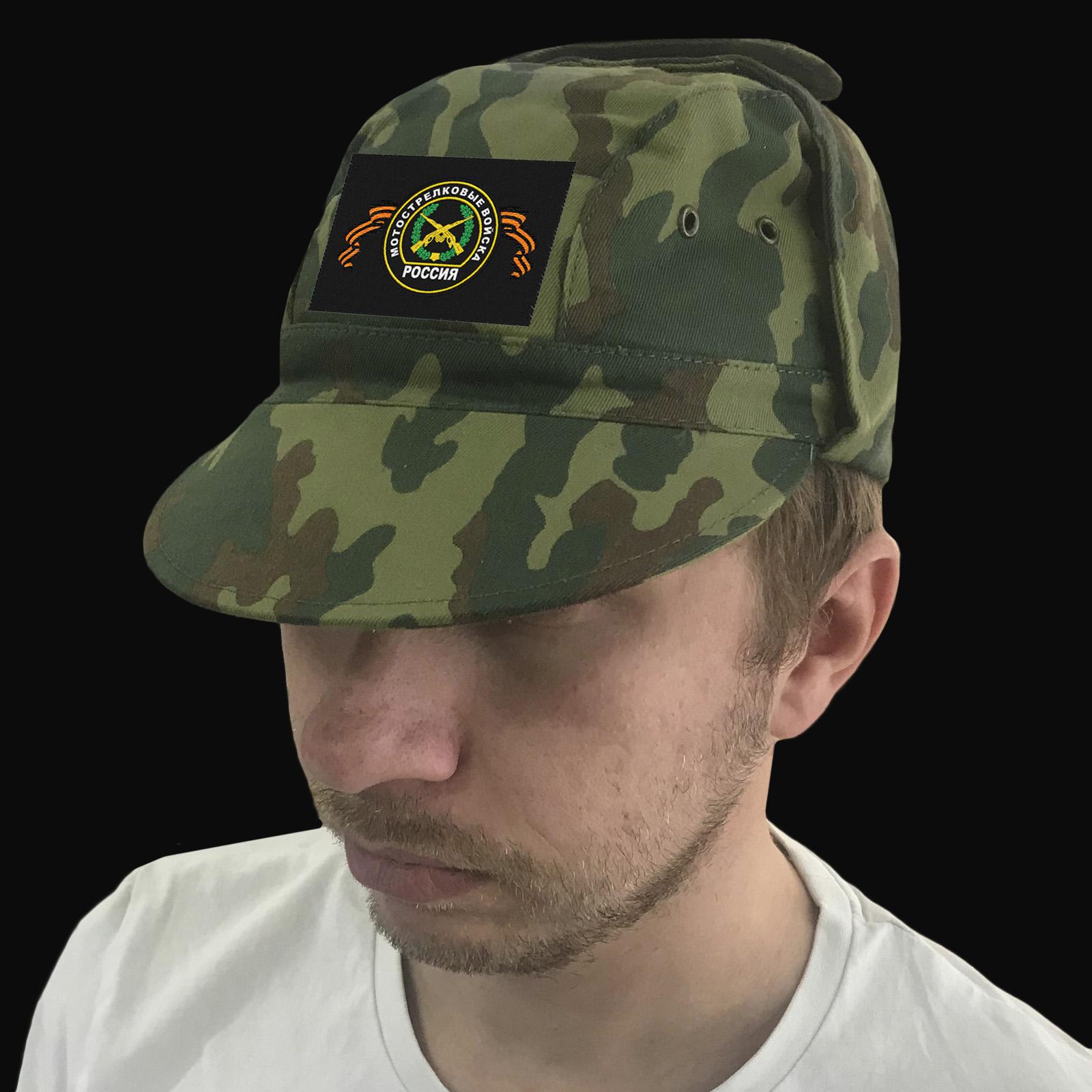 Милитари кепка с шевроном Мотострелковых войск РФ.