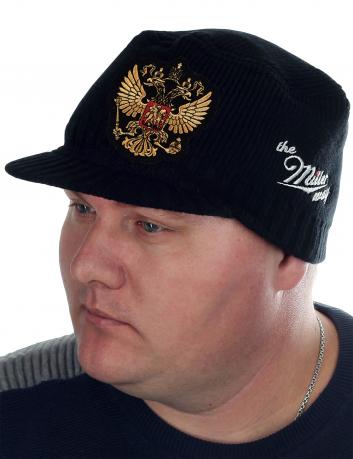 Утепленная кепка немка Miller Way с вышитым Двуглавым орлом. Удобная мужская модель, которая переходит из сезона в сезон. Заказывай прямо сейчас, пока есть твой размер