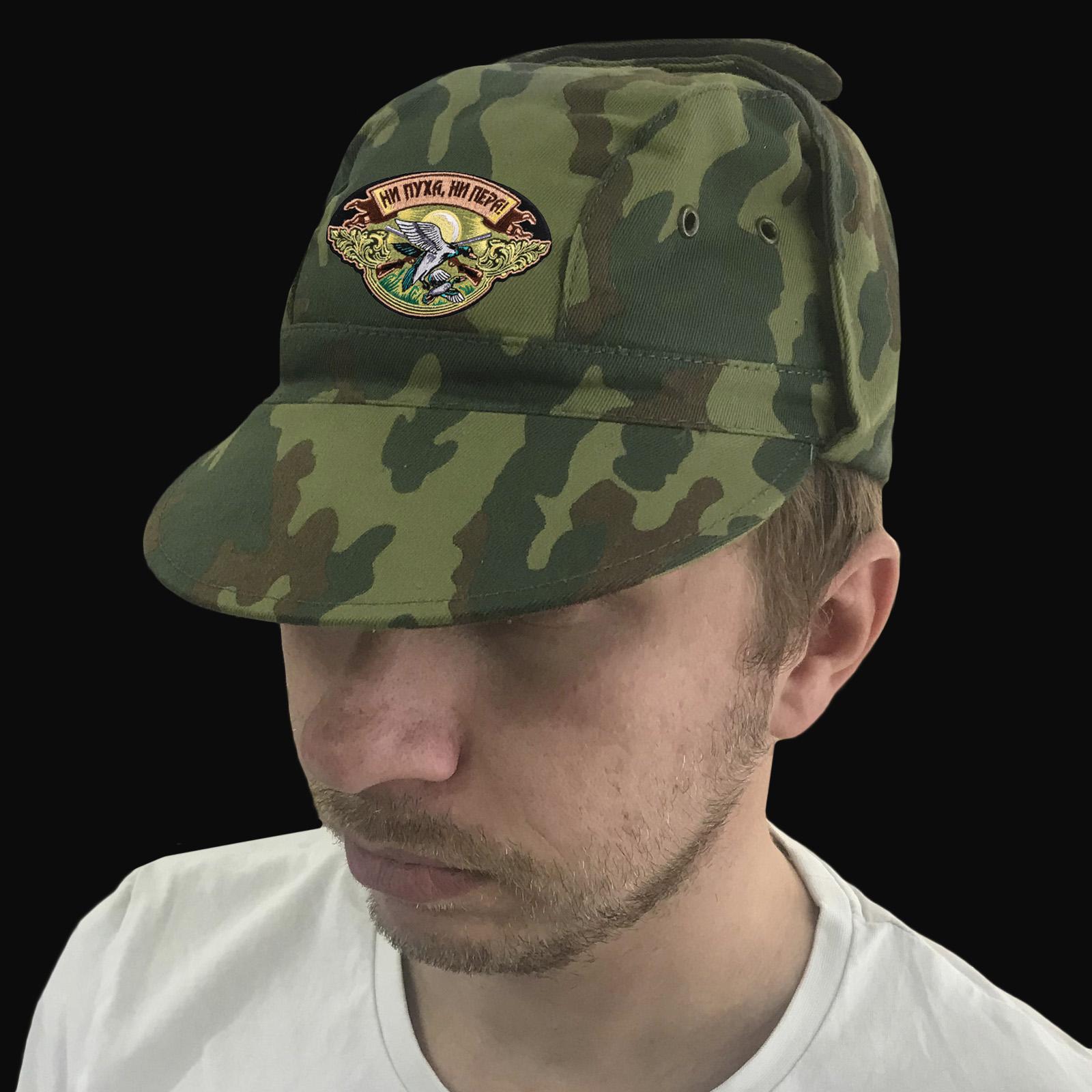 Охотничья кепка-камуфляж Ни пуха, ни пера