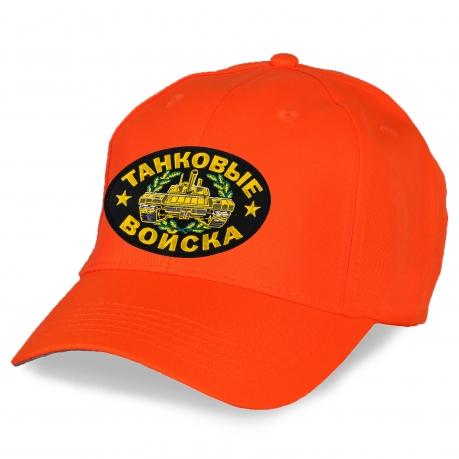 Кепка оранжевая с вышивкой Танковые войска