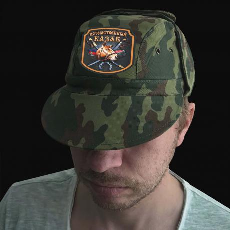 Мужская кепка с эффектным принтом Потомственный казак