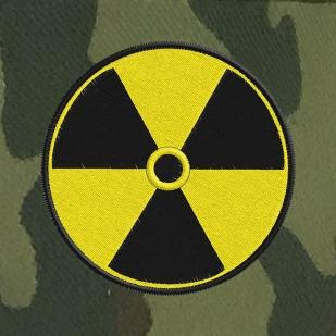 Мужская кепка в военном стиле с шевроном Радиации.