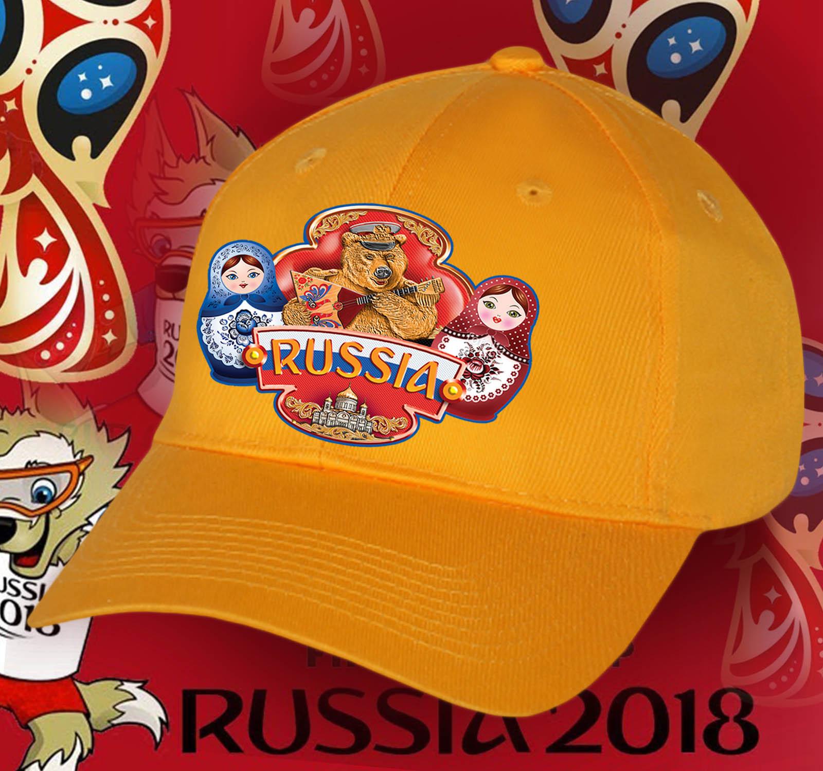 Национальная кепка RUSSIA для болельщиков, фанатов и патриотов