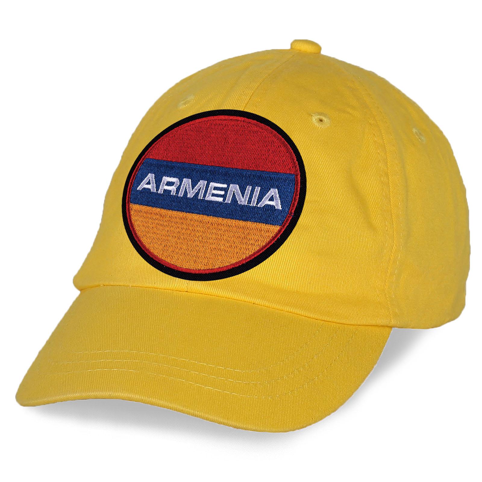 """Кепка с армянским флагом и вышитой надписью """"ARMENIA"""""""