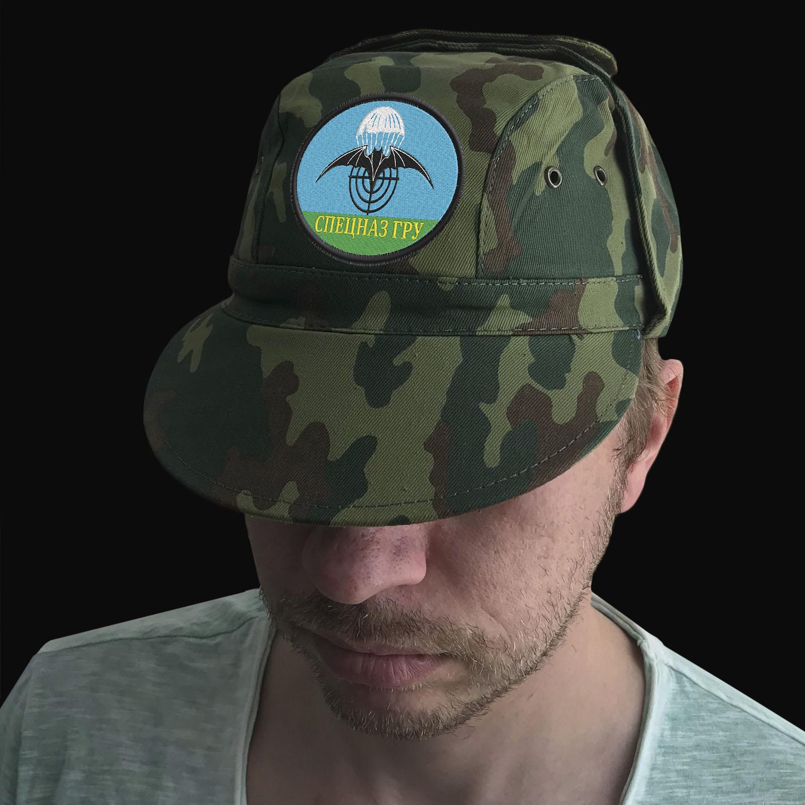 Камуфляжная кепка с эмблемой Спецназ ГРУ