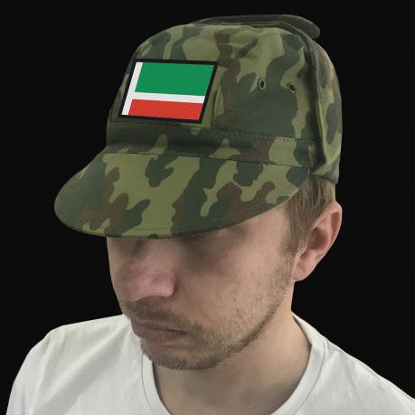 Патриотическая милитари кепка с флагом Чечни.