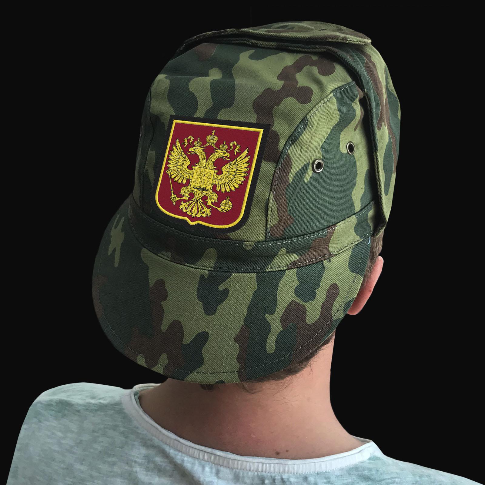 Милитари кепка с двуглавым Орлом РФ