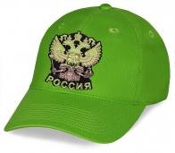 Кепка с гербом России зеленая