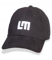 Мужская черная кепка с контрастным лого LM.
