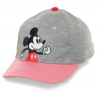Детская кепка с мультяшным Микки Маусом. От блестящего козырька ваша Принцесса будет в восторге