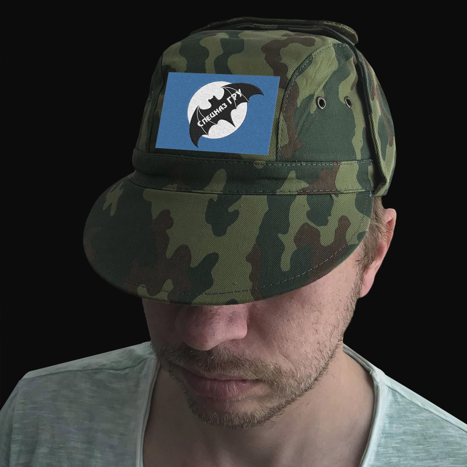 Милитари кепка с вышитой летучей мышью Спецназа ГРУ