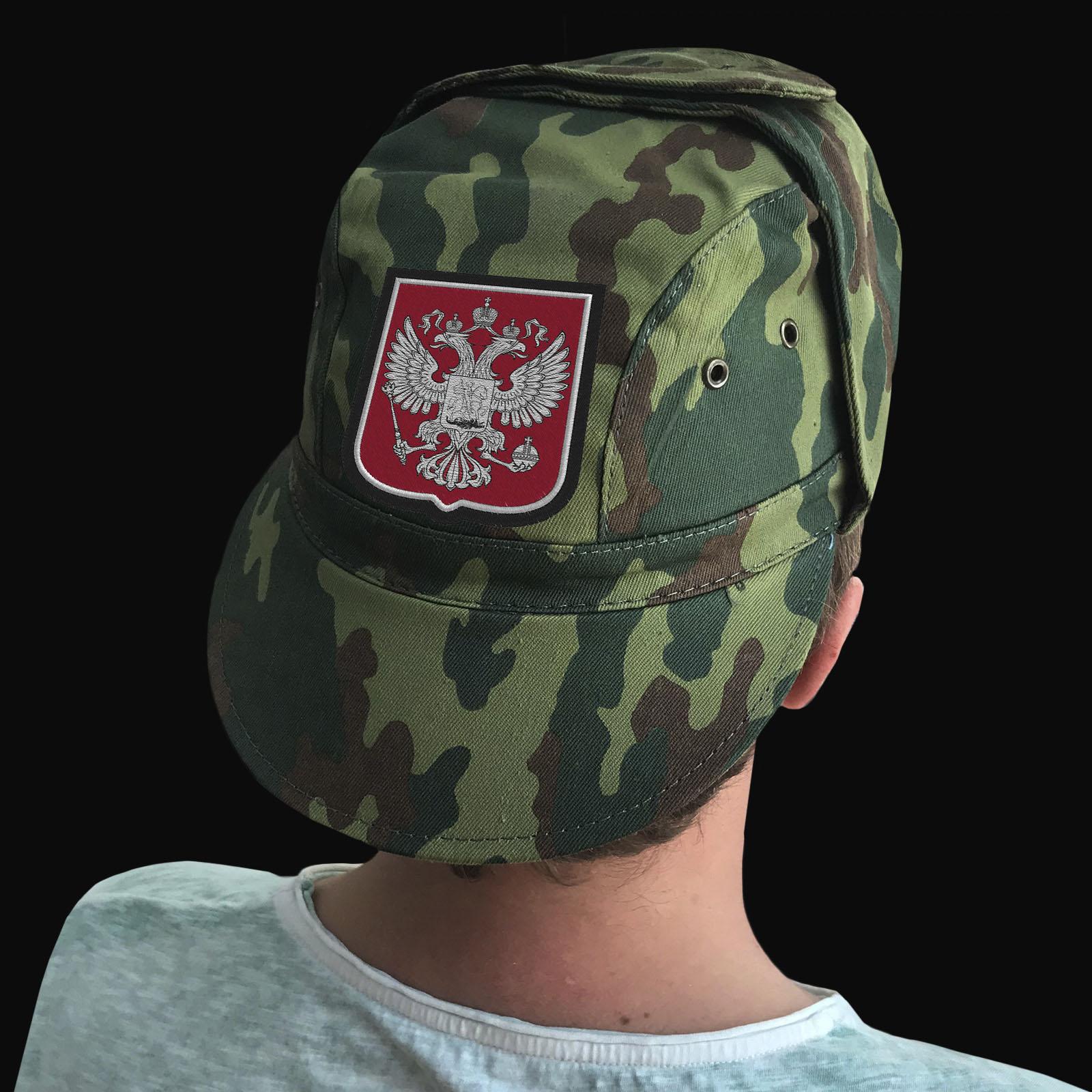 Недорогие милитари кепки с шевроном в виде Двуглавого Орла РФ