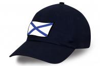 Кепка с принтом ВМФ темно-синего цвета