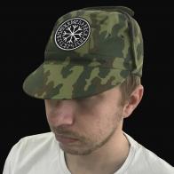 Камуфляжная кепка с ушами и вышитым Руническим Кругом.