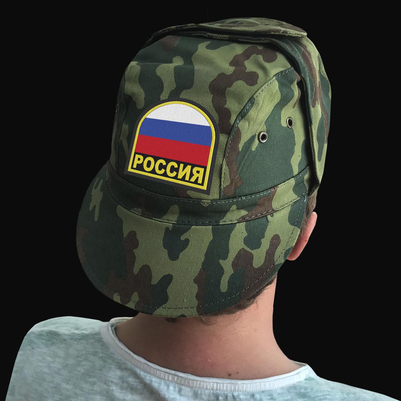 Мужские милитари кепки с флагом РФ