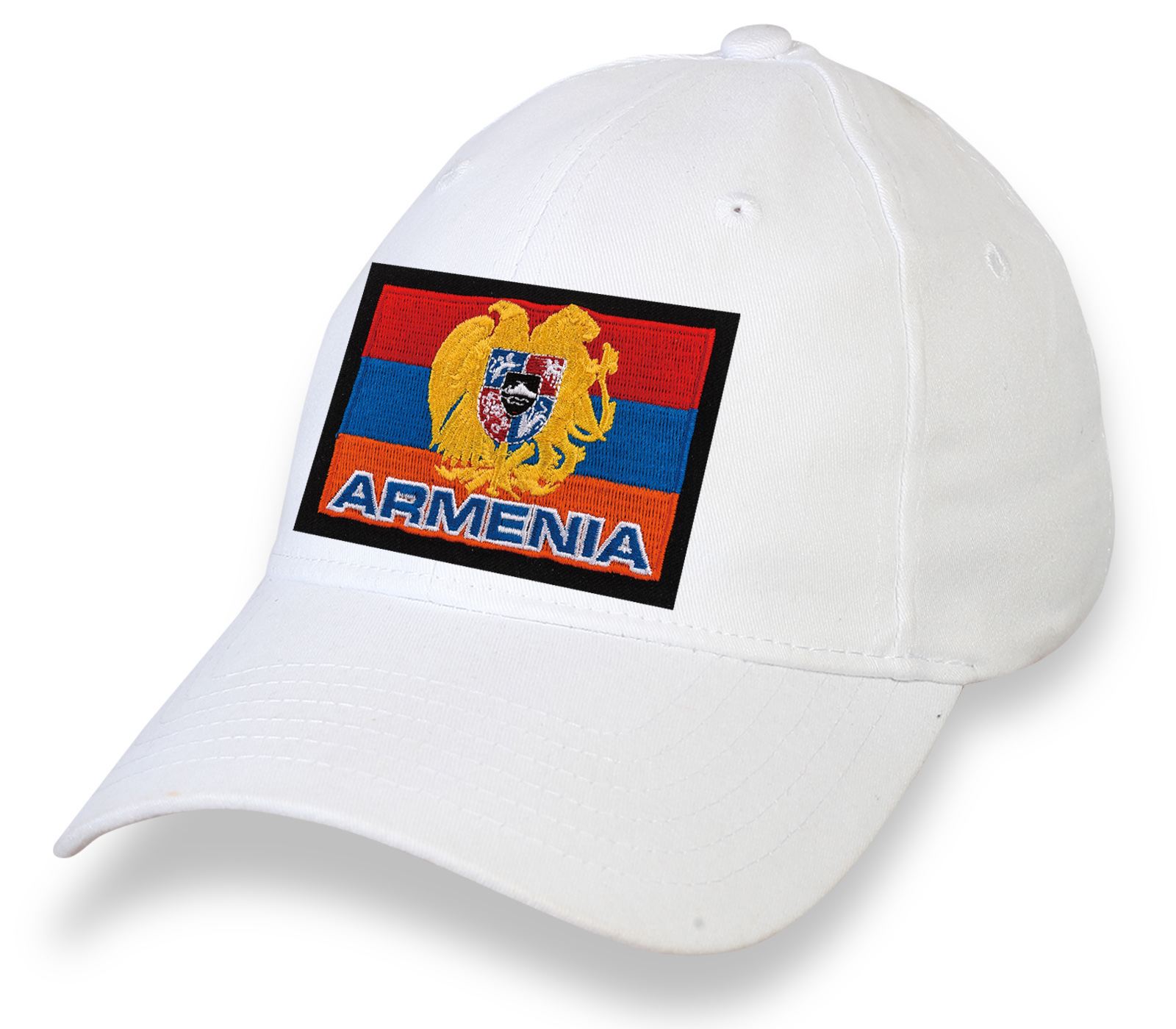 Кепка с вышитым флагом Армении