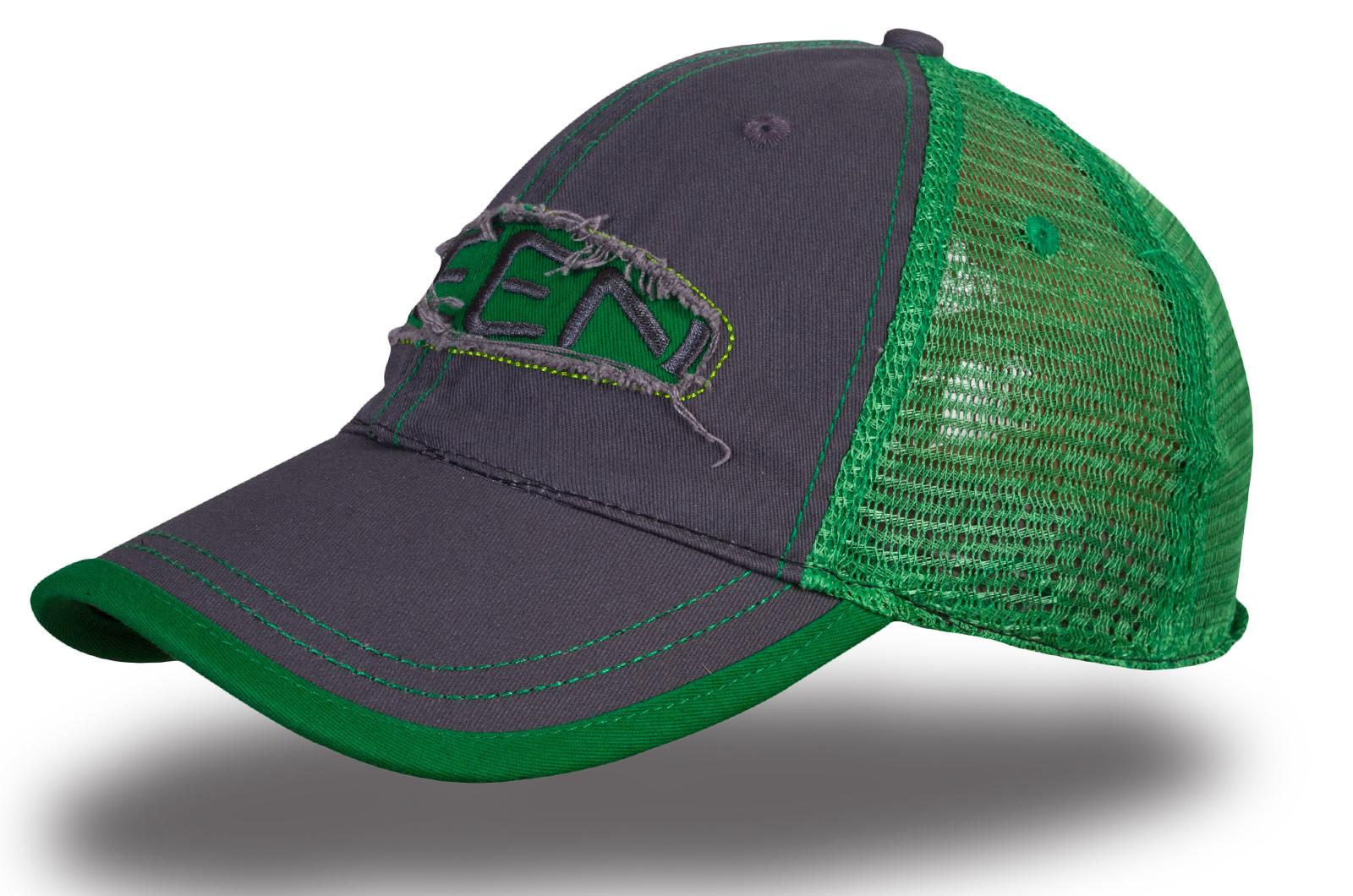 Кепка серая с зеленым - купить в интернет-магазине с доставкой