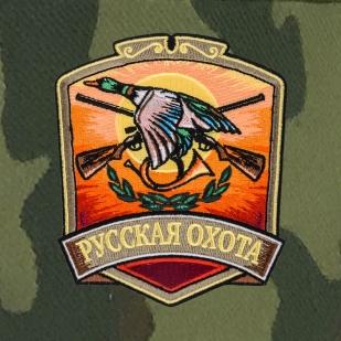 Мужская кепка с шевроном Русская охота