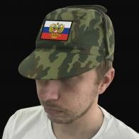 Армейская кепка с вышитым штандартом Президента РФ.