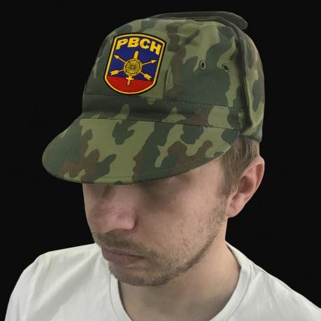 Камуфляжная кепка с вышитой символикой РВСН