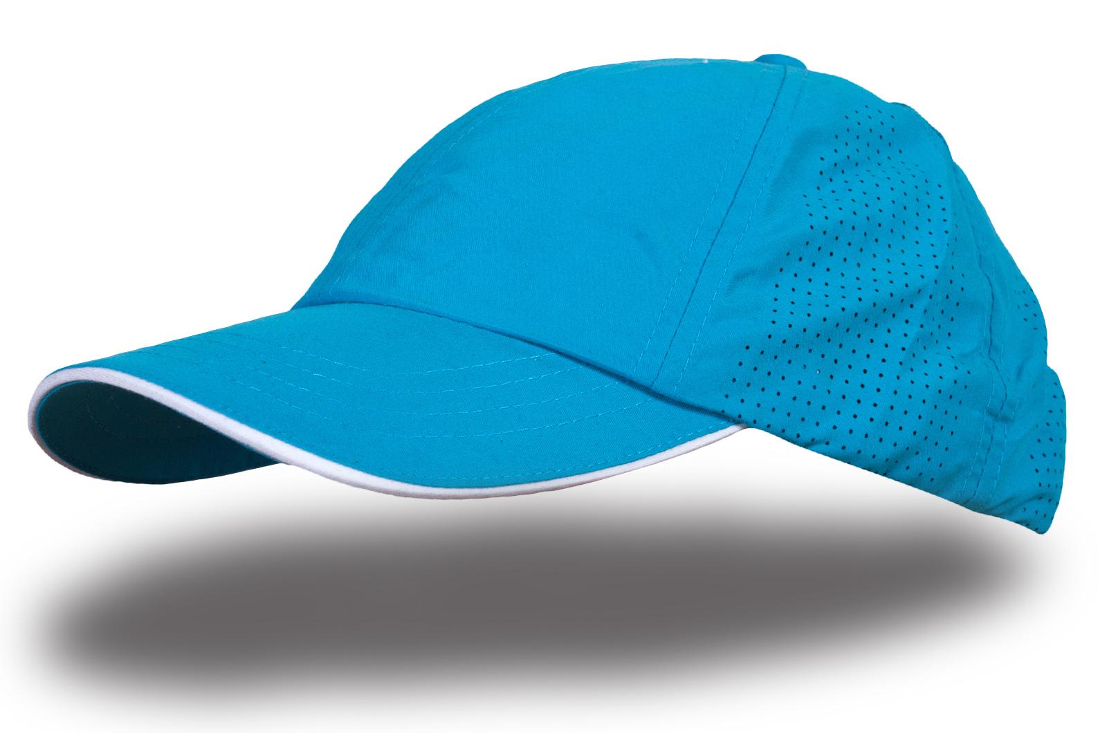 Кепка синяя с перфорацией - купить в интернет-магазине с доставкой