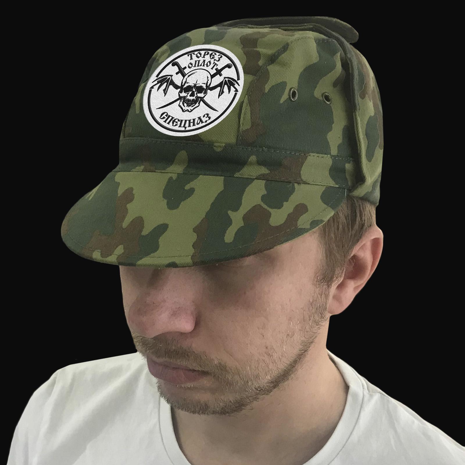 Новороссия! Военная кепка с шевроном Спецназа Оплот, Торез.