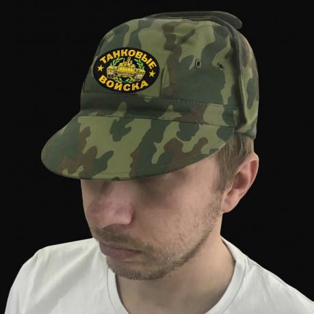 Мужская милитари кепка с шевроном Танковых войск