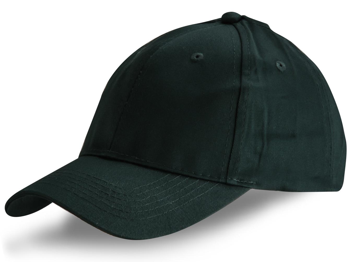 Кепка темно-зеленая - купить в интернет-магазине с доставкой