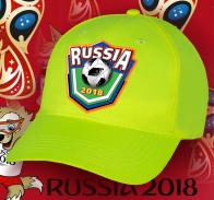 Кислотная бейсболка Russia 2018.