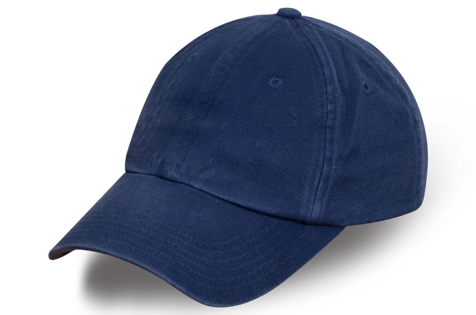 Классическая бейсболка темно-синяя