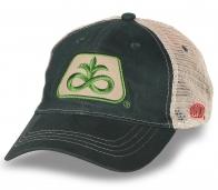 Классическая бейсболка DuPont Pioneer темно-зеленая с бежевой сеткой