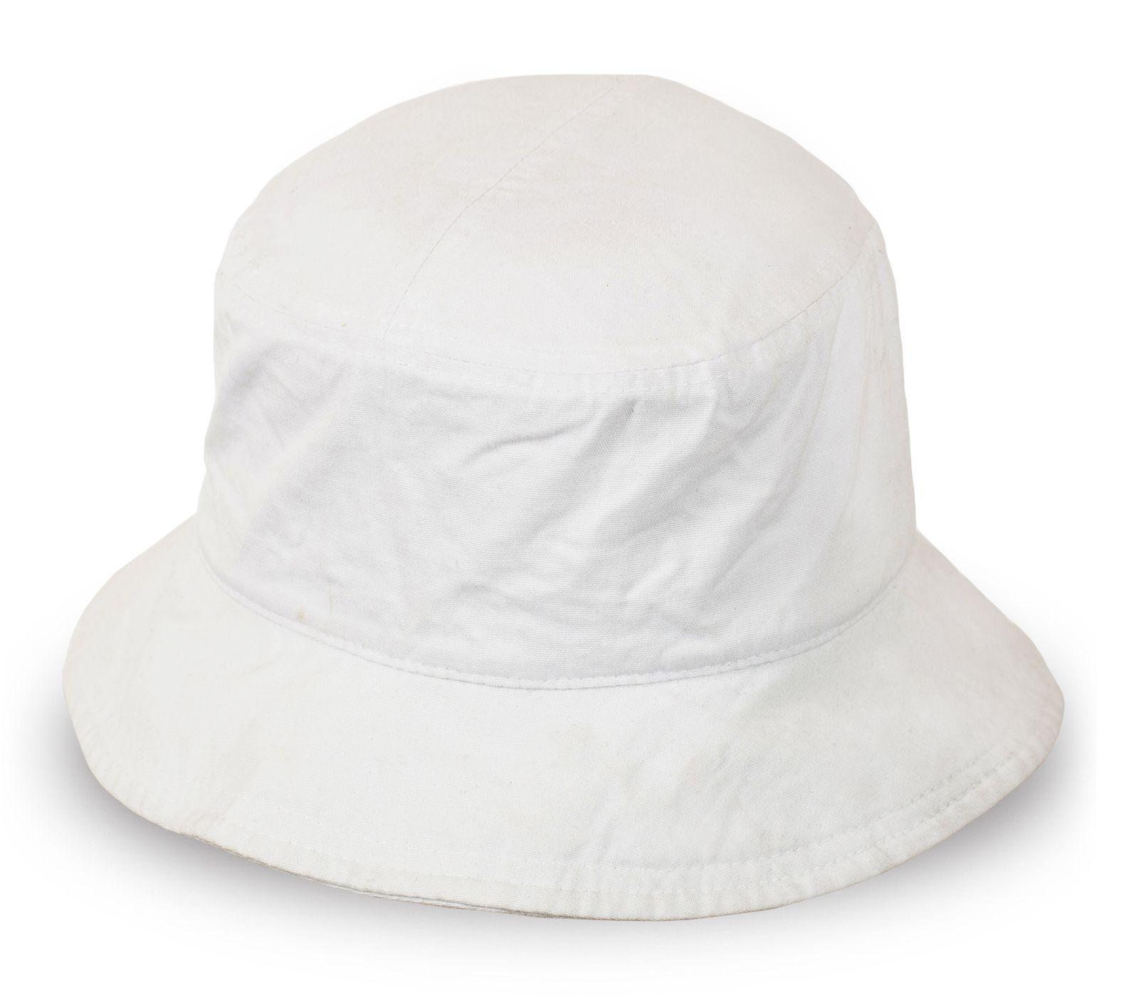 Классическая белая панама для пляжа