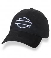 Классическая черная бейсболка с лого