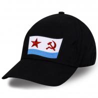 Классическая черная бейсболка с нашивкой ВМФ СССР
