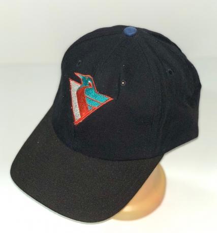 Классическая черная бейсболка с яркой вышивкой