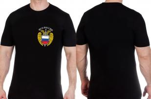Классическая черная футболка с эмблемой ФСО с доставкой