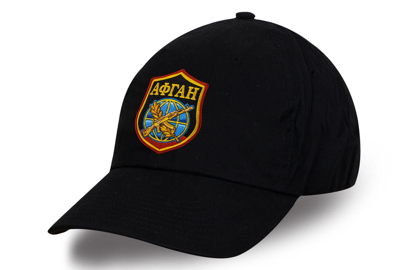 """Классическая черная кепка """"Афган"""" с современной вышивкой"""