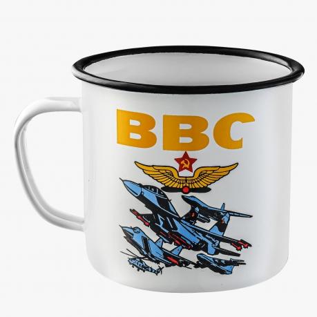Классическая эмалированная кружка ВВС