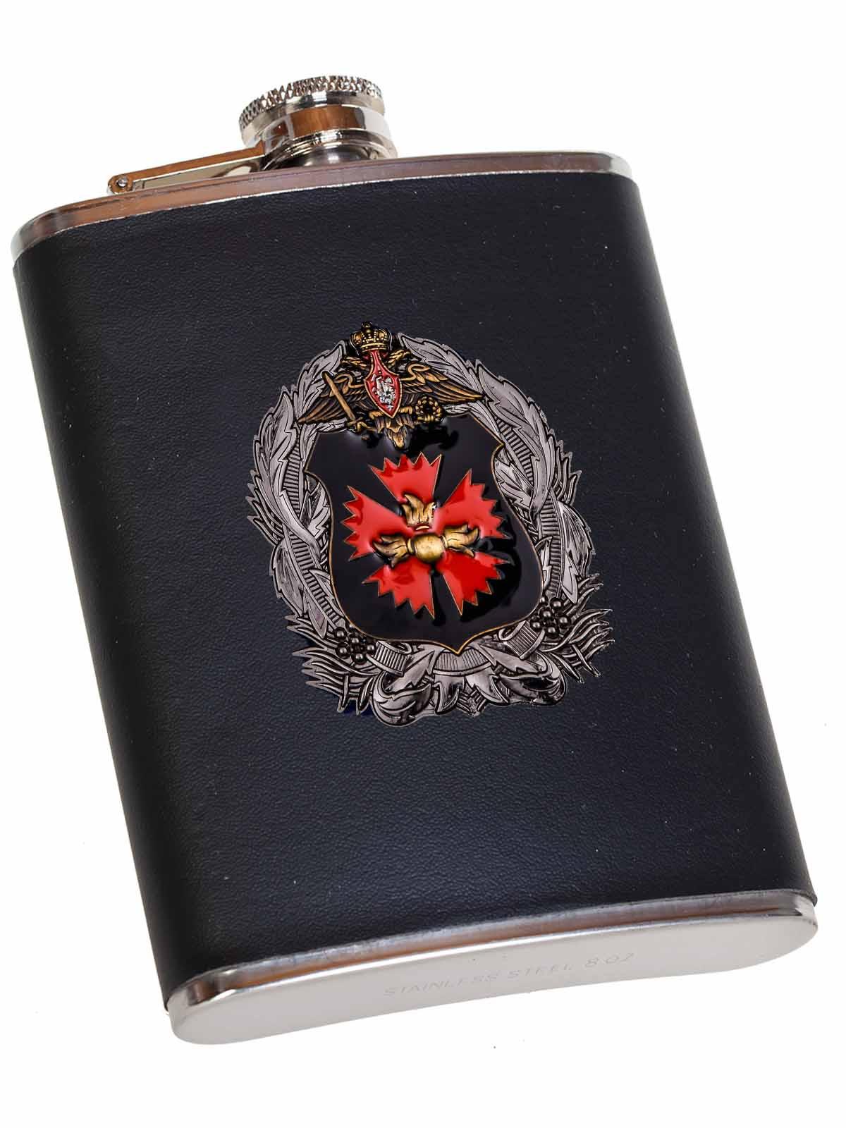 Классическая фляжка в чехле с эмблемой ГУ Генерального штаба ВС РФ - в Военпро