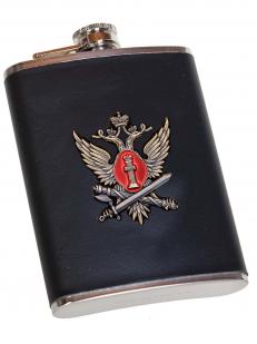 Классическая фляжка в чехле с жетоном ФСИН - отменное качество