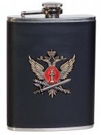 Классическая фляжка в чехле с жетоном ФСИН