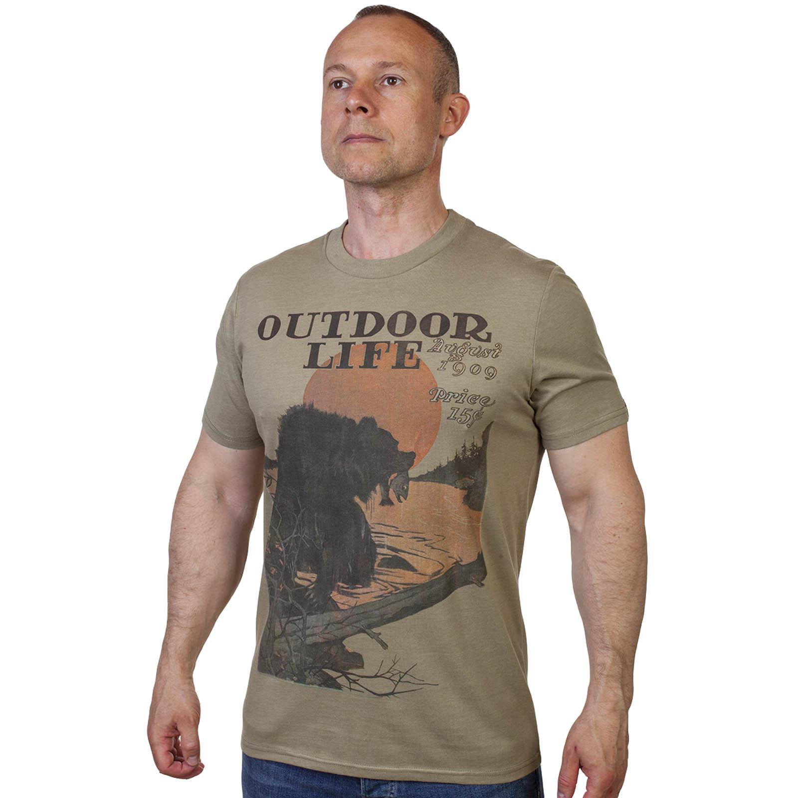 Фирменная мужская футболка с принтом