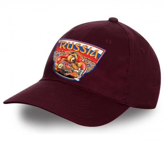 """Классическая кепка """"Russia"""" с уникальным принтом. Топовая модель сезона, заказывай и будь на высоте!"""