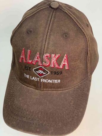 Классическая коричневая бейсболка ALASKA