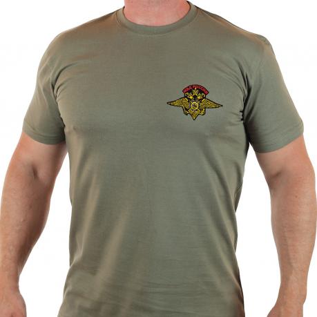 Классическая мужская футболка с эмблемой МВД России