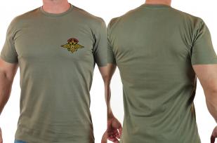 Классическая мужская футболка с эмблемой МВД России купить оптом