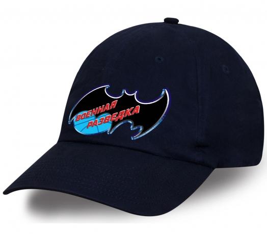Классическая мужская кепка с принтом скрытной и молниеносной летучей мыши «Военная разведка» неподражаемого дизайна от Военпро. Купите и оцените!