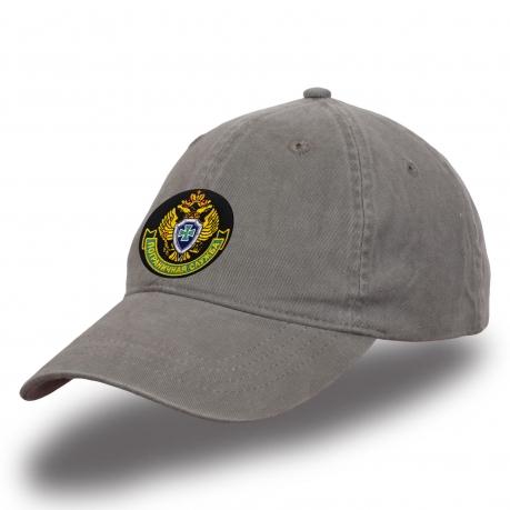 """Классическая мужская кепка с вышивкой """"Пограничная служба"""""""