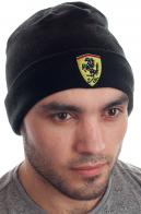 Классическая мужская шапка на флисе с отворотом для парней любящих спорт